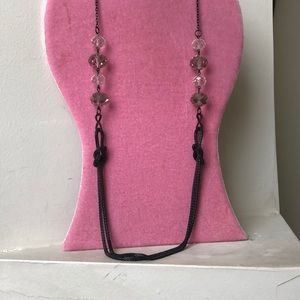 Jewelry - Long Necklace Chain with crystal beads